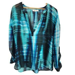 Two by Vince Camuto Semi Sheer Tunic Medium
